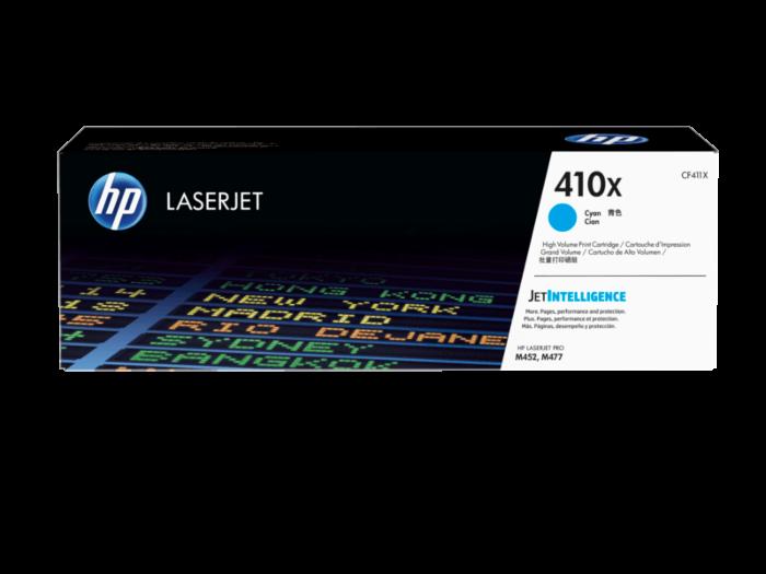 HP 410X 高打印量青色原廠 LaserJet 碳粉 CF411X