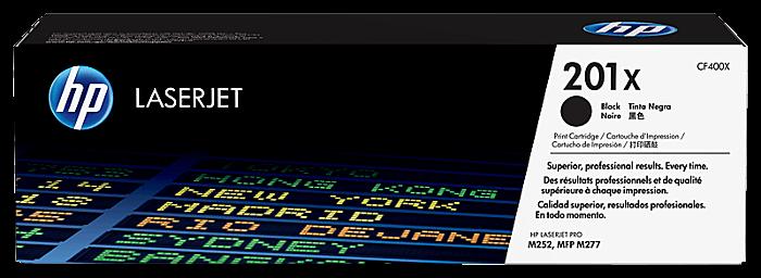 HP 201X 高打印量黑色原廠 LaserJet 碳粉 CF400X