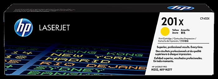 HP 201X 高打印量黃色原廠 LaserJet 碳粉 CF402X