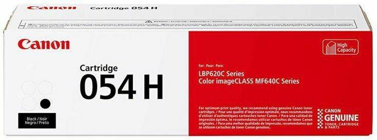Canon Cartridge 054H BK 高打印量黑色原裝打印機碳粉盒 CRG054HBK