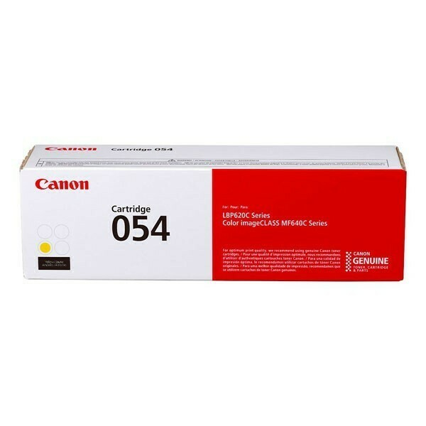 Canon Cartridge 054 Y  黃色原裝打印機碳粉盒 CRG054Y