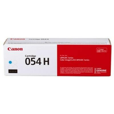 Canon Cartridge 054H C 高打印量青色原裝打印機碳粉盒 CRG054HC