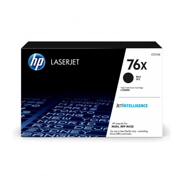 HP 76X  高打印量黑色原廠 LaserJet 碳粉 CF276X