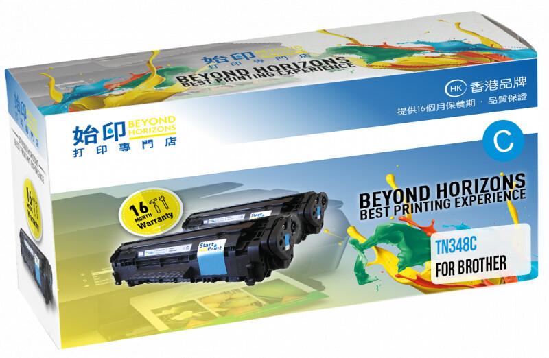 StartPrint Brother TN348 高打印量藍色 優質代用碳粉匣 TN348C