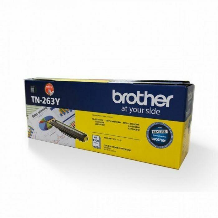 Brother TN263 Y 黃色原裝碳粉盒 TN263Y
