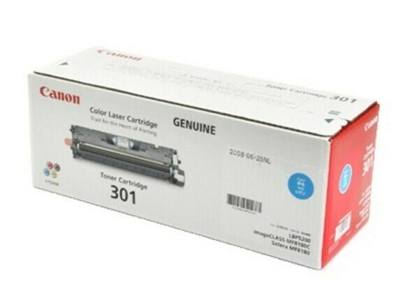 Canon Cartridge 301C 藍色原裝打印機碳粉盒 CRG301C