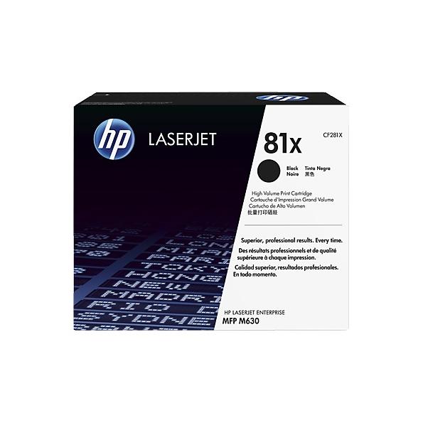 HP 81X 黑色原廠 LaserJet 碳粉 CF281X