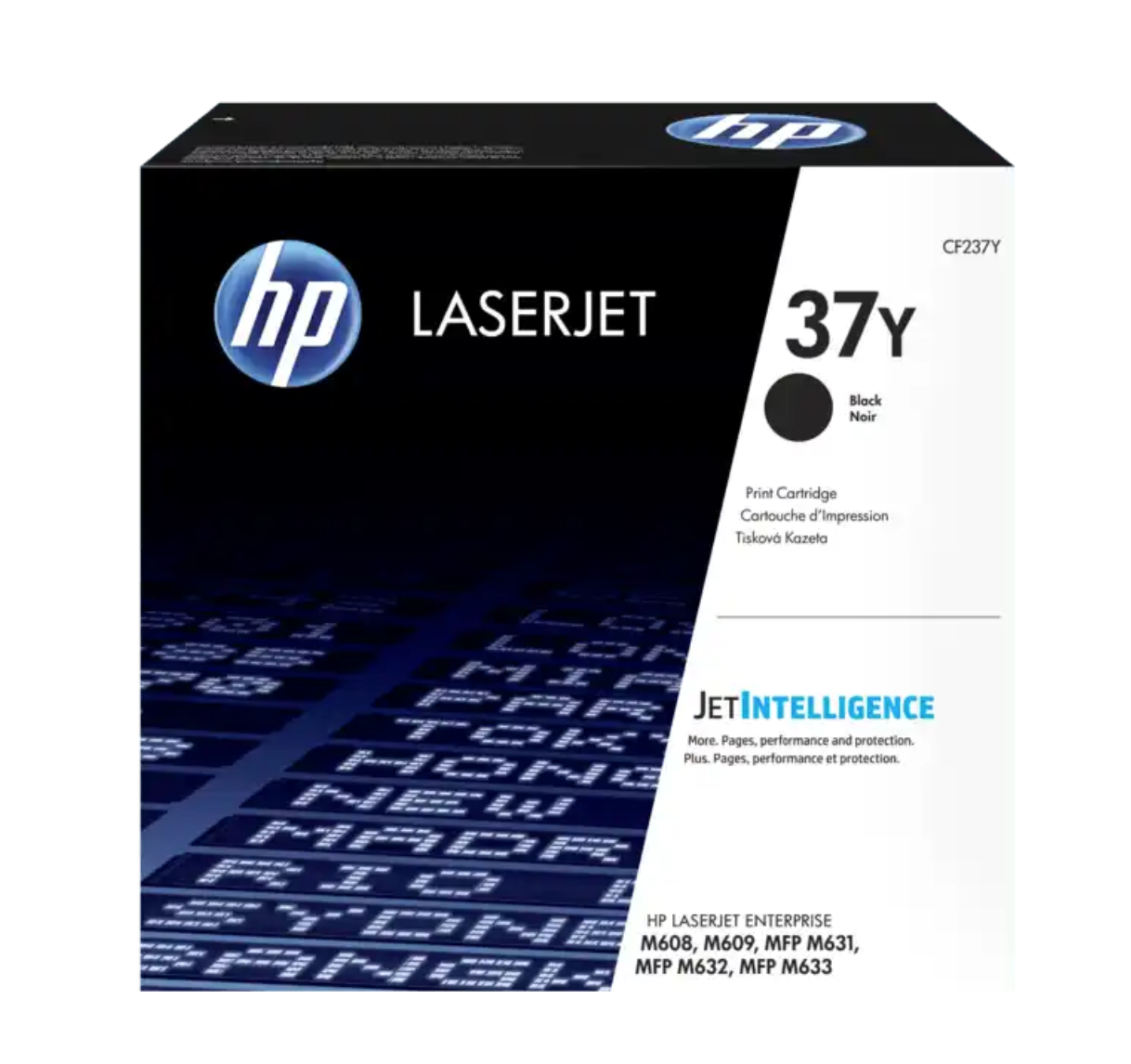 HP 37Y 高打印量黑色原廠 LaserJet 碳粉 CF237Y
