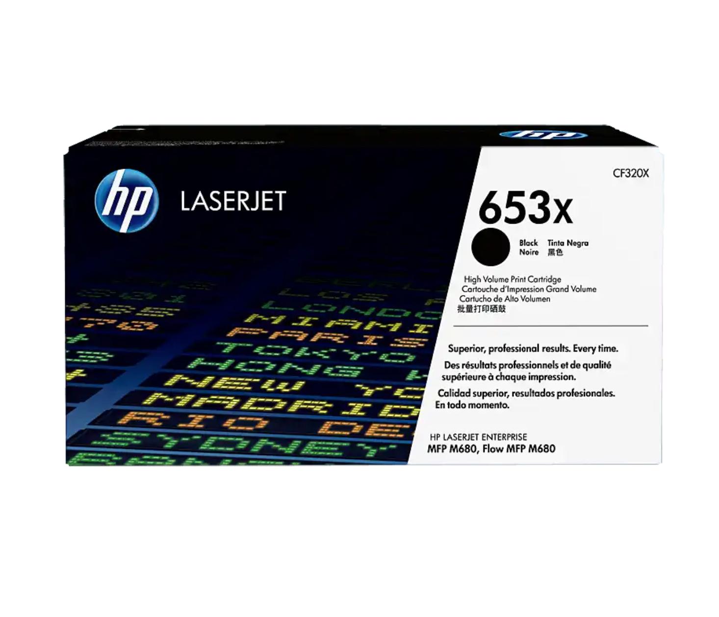 HP 653X 黑色原廠 LaserJet 碳粉 CF320X