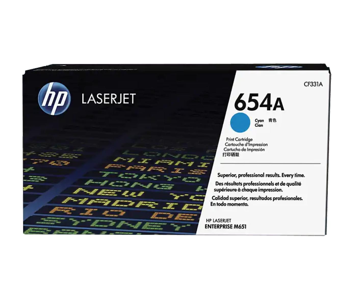 HP 654A 綻藍原廠 LaserJet 碳粉 CF331A