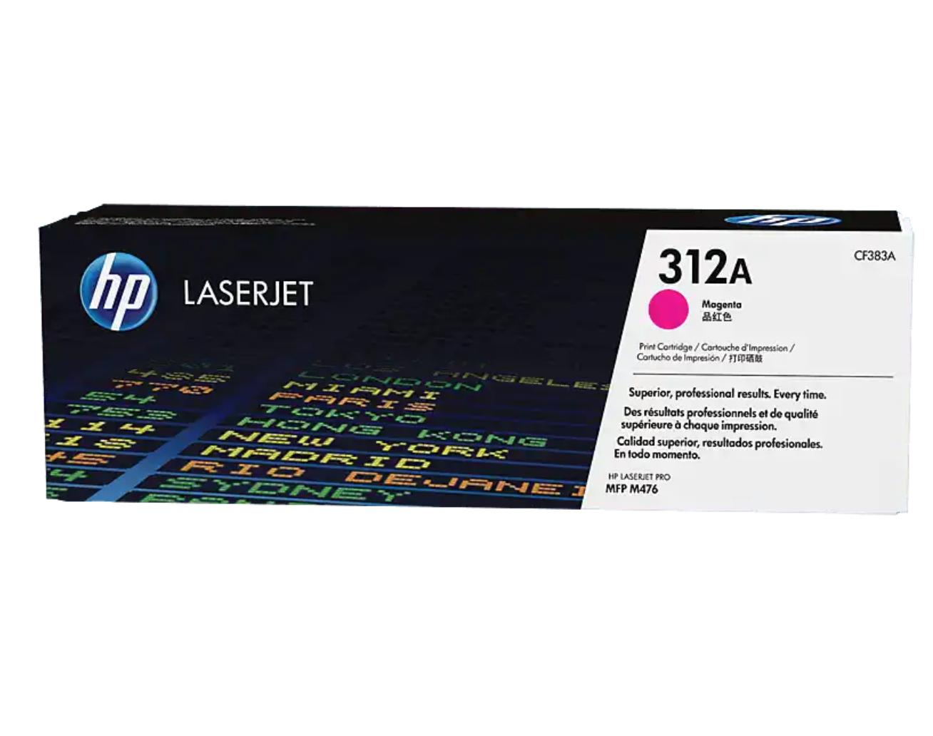 HP 312A 洋紅原廠 LaserJet 碳粉 CF383A