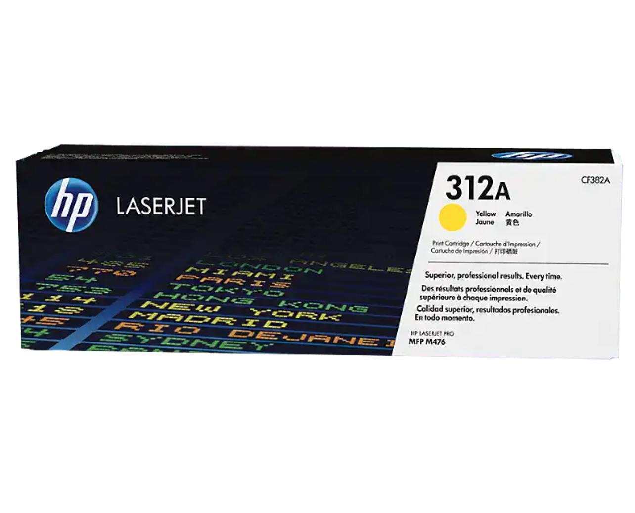 HP 312A 黃色原廠 LaserJet 碳粉 CF382A