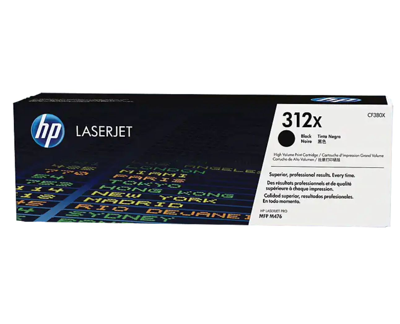 HP 312X 高容量黑色原廠 LaserJet 碳粉 CF380X