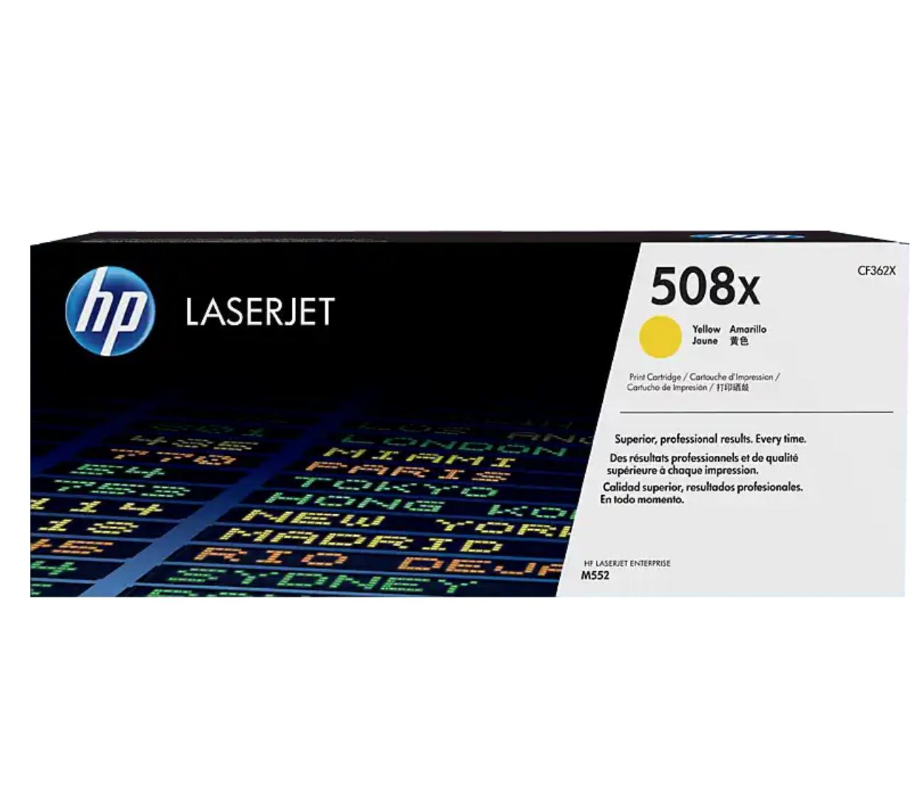 HP 508X 高打印量黃色原廠 LaserJet 碳粉 CF362X