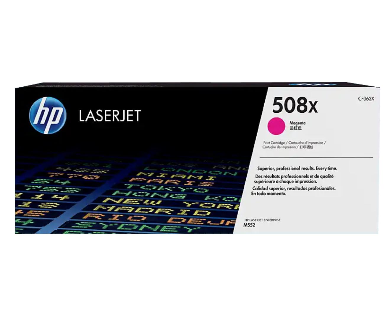 HP 508X 高打印量洋紅原廠 LaserJet 碳粉 CF363X