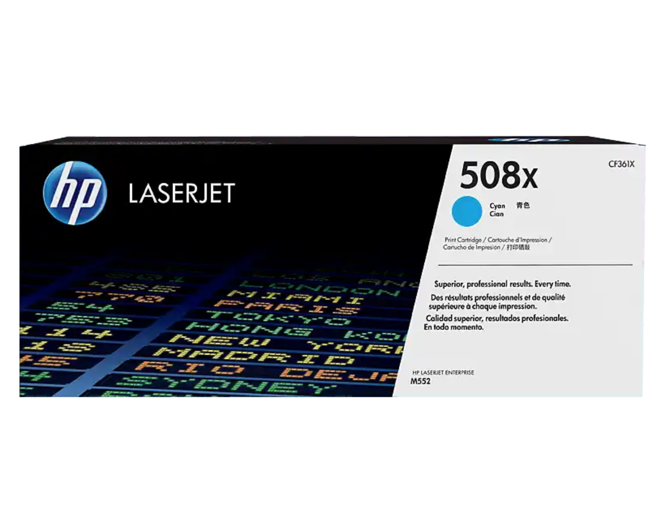 HP 508X 高打印量靛藍原廠 LaserJet 碳粉 CF361X