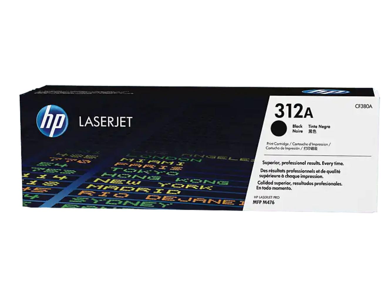 HP 312A 黑色原廠 LaserJet 碳粉 CF380A