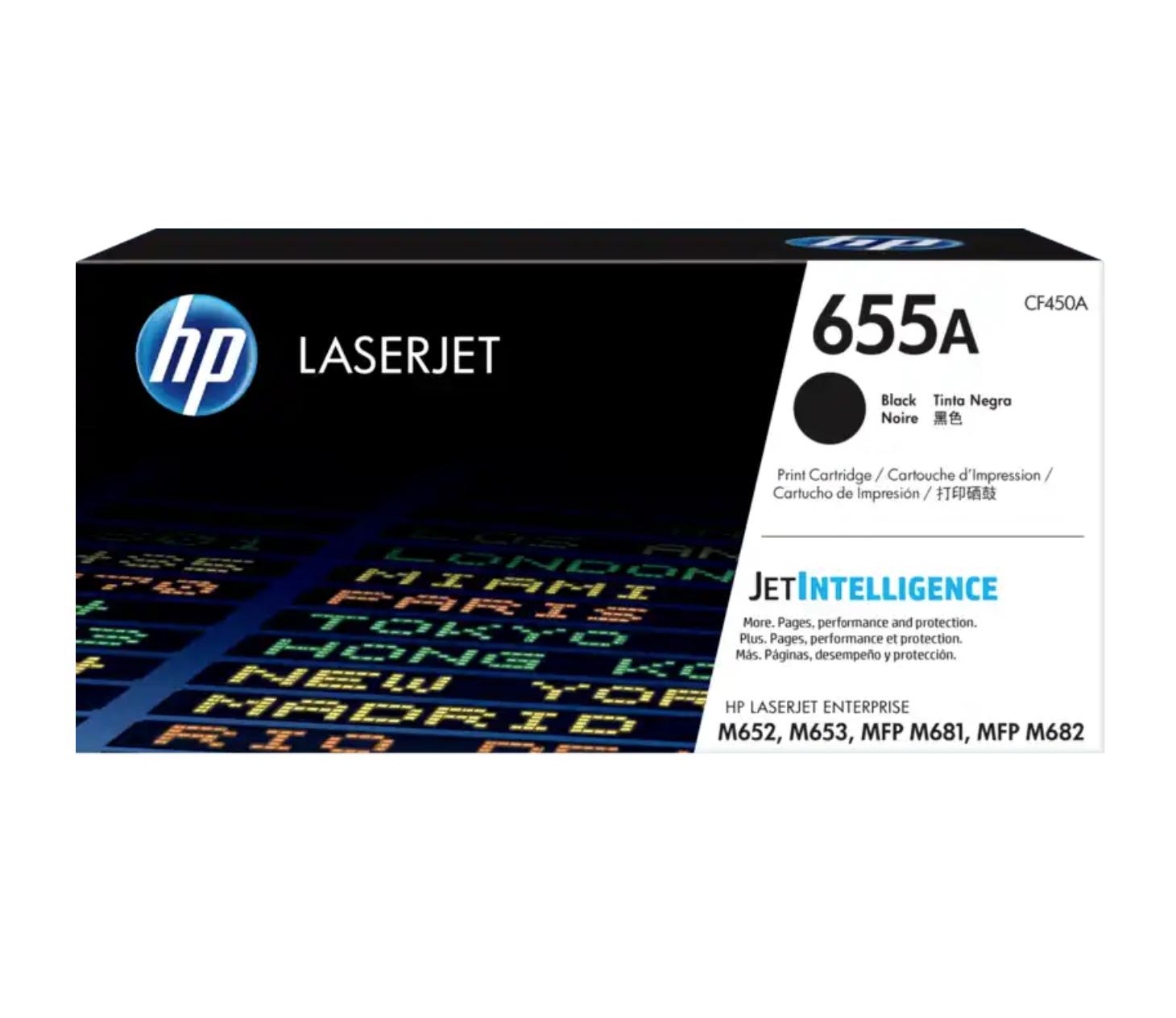 HP 655A 黑色原廠 LaserJet 碳粉 CF450A