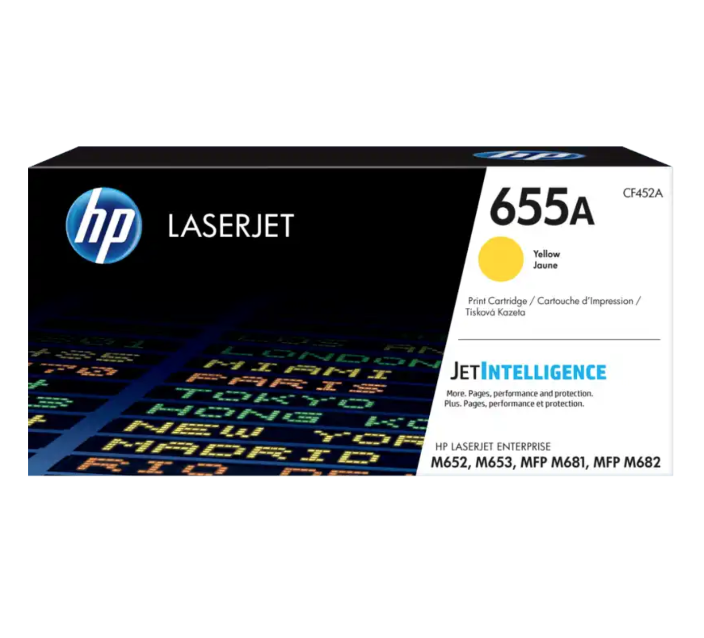 HP 655A 黃色原廠 LaserJet 碳粉 CF452A