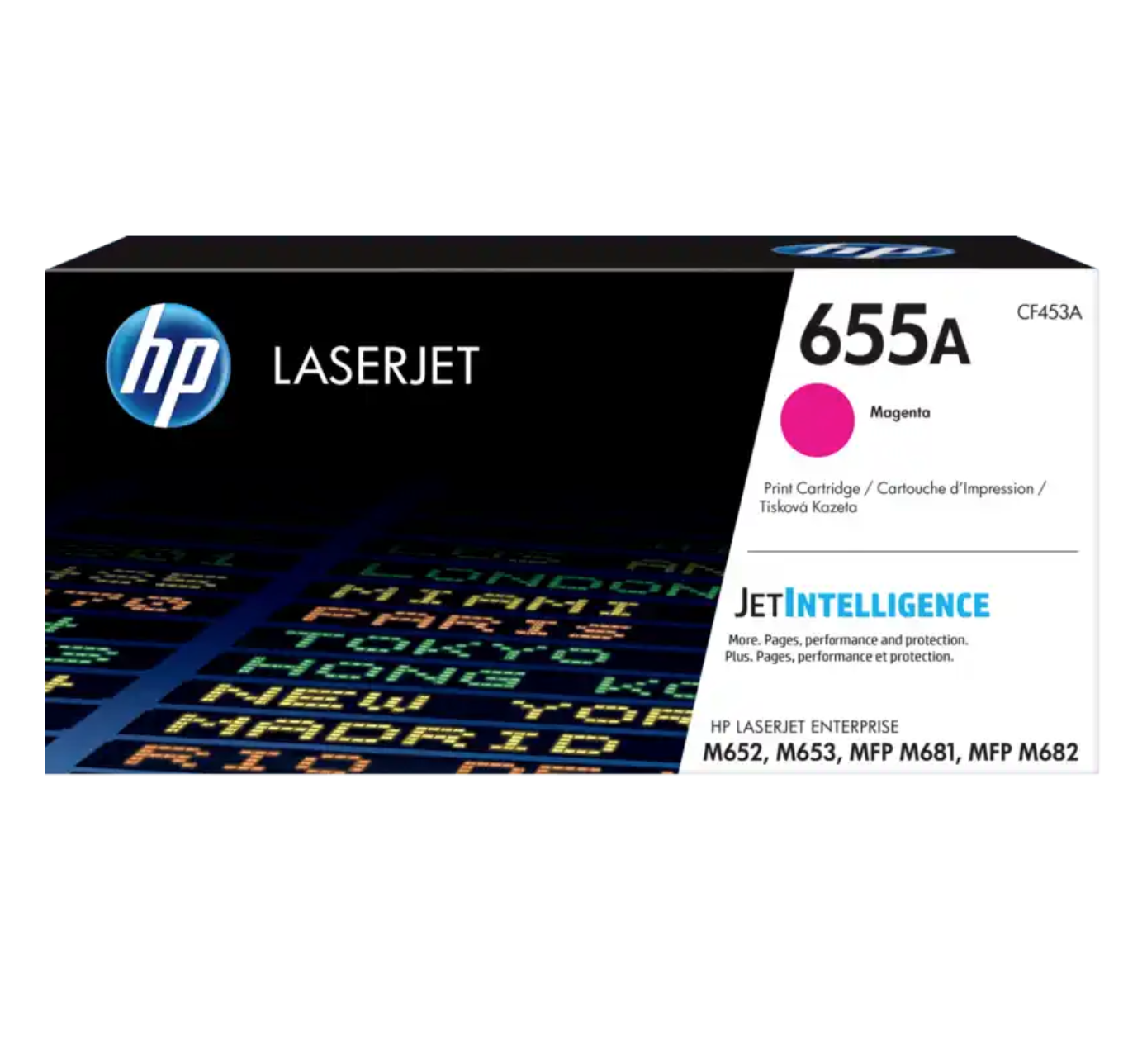 HP 655A 洋紅原廠 LaserJet 碳粉 CF453A