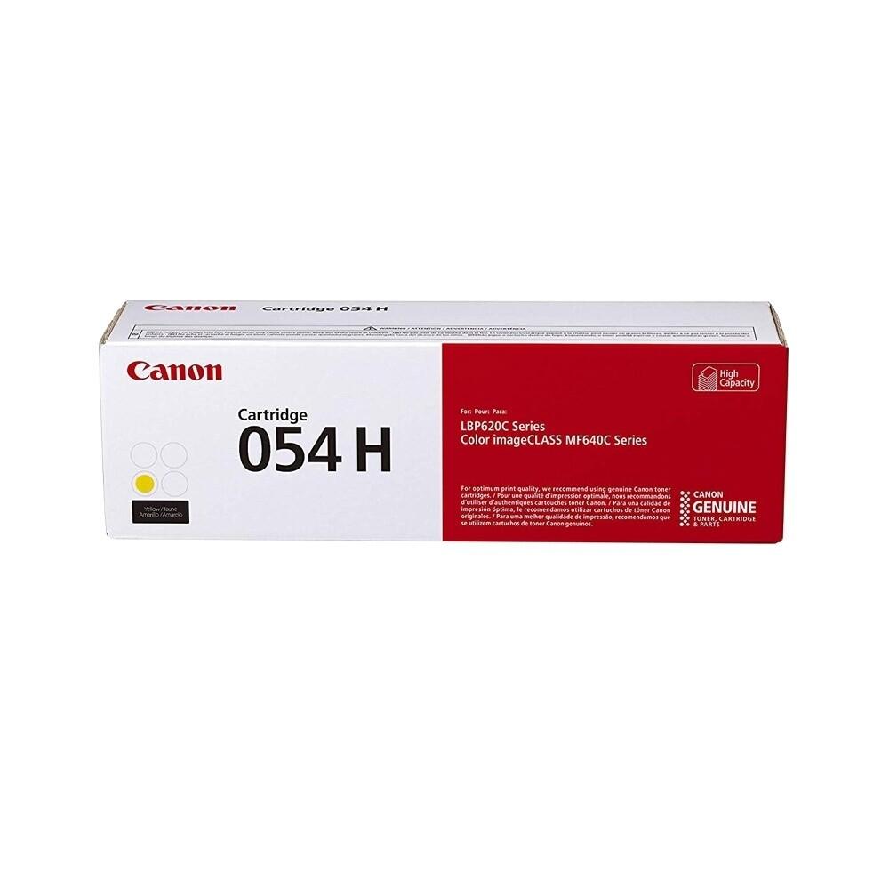 Canon Cartridge 054H Y 高打印量黃色原裝打印機碳粉盒 CRG054HY