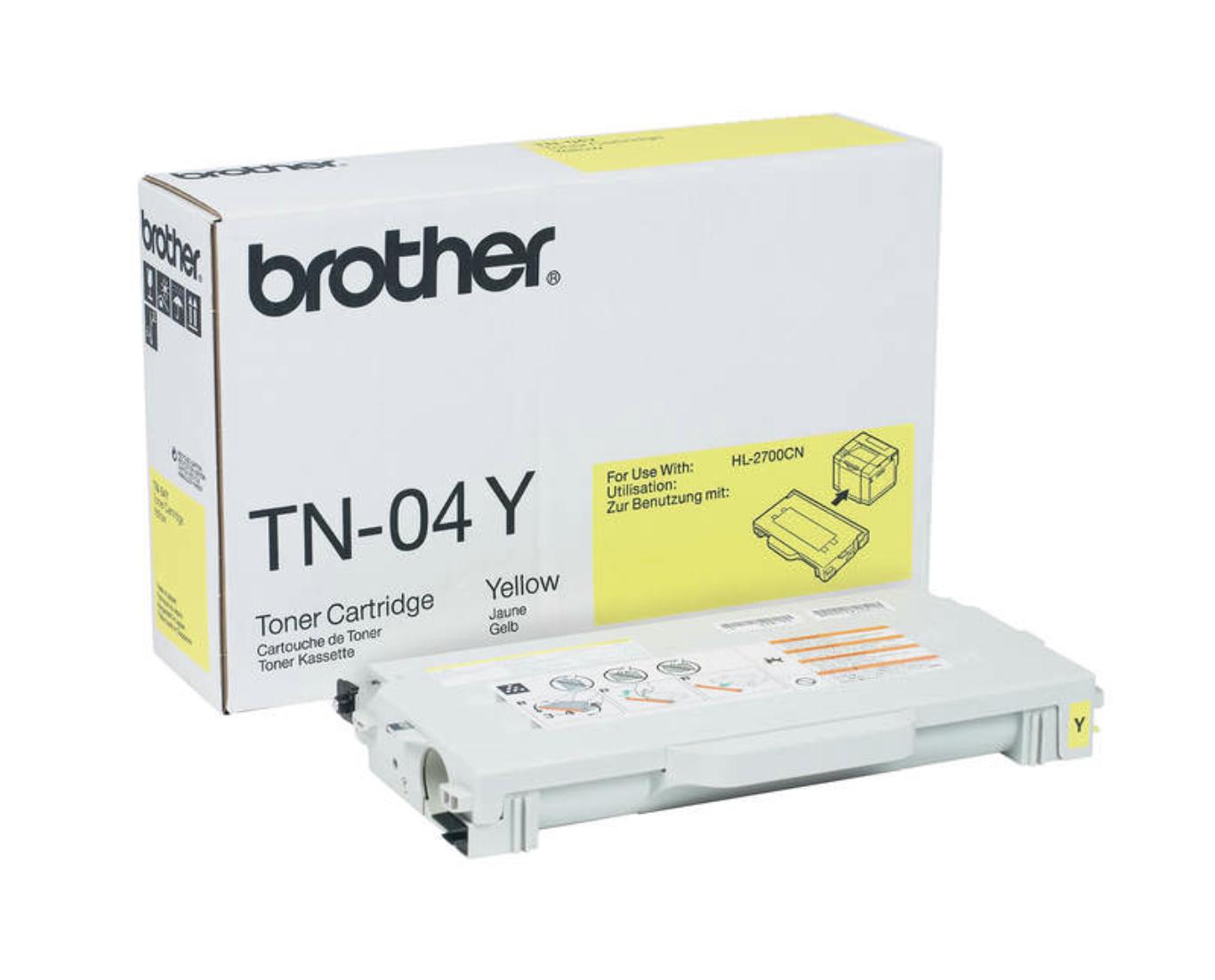 Brother TN04 Y 黃色高容量原裝碳粉盒 TN04Y