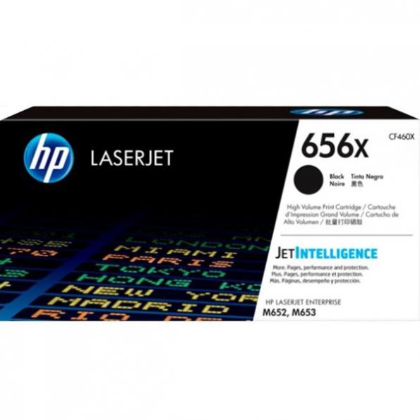 HP 656X 黑色原廠 LaserJet 碳粉 CF460X