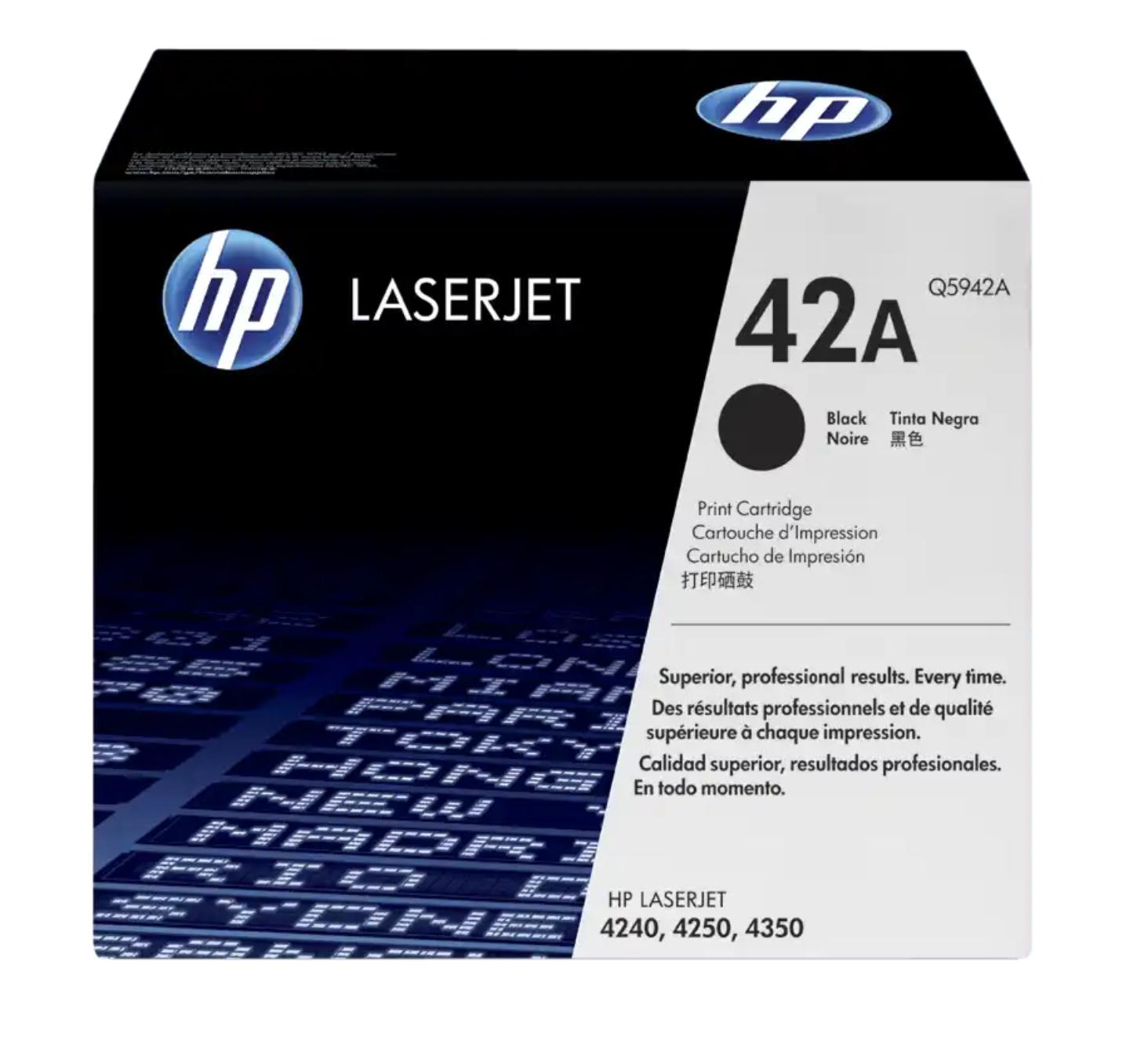 HP 42A 黑色原廠 LaserJet 碳粉Q5942A