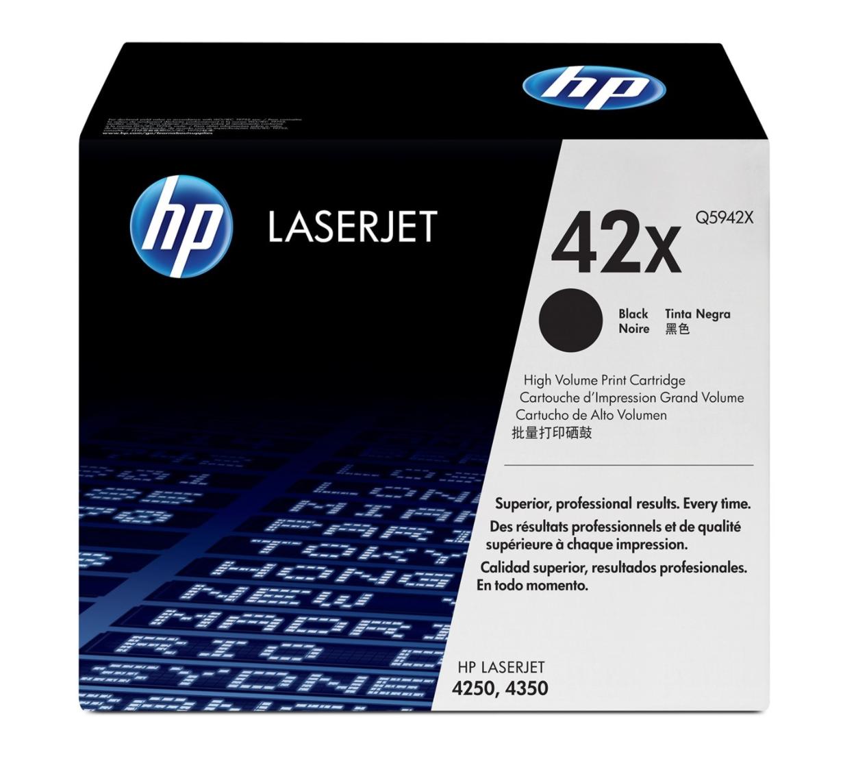 HP 42X 黑色原廠 LaserJet 碳粉Q5942X