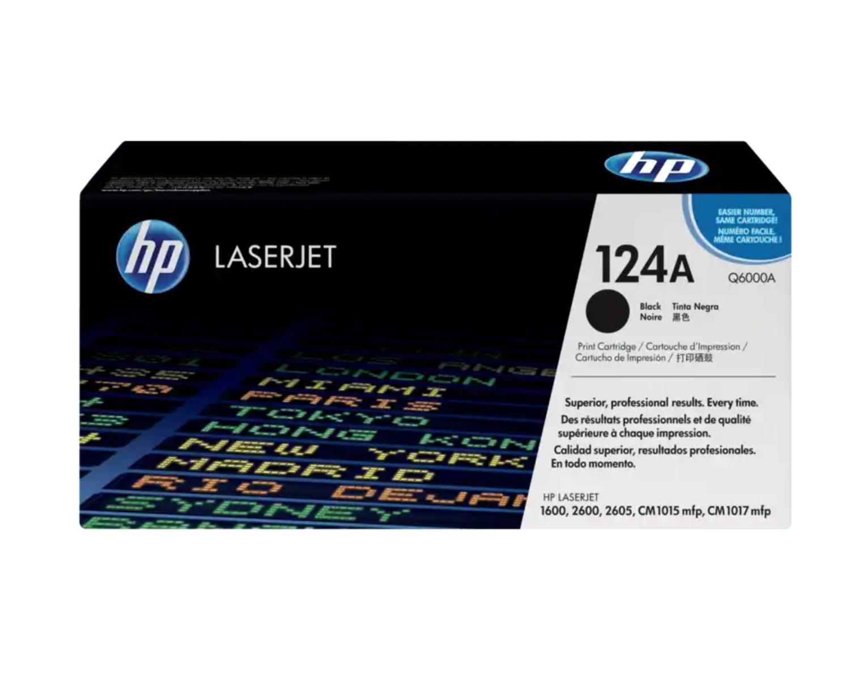 HP 124A 黑色原廠 LaserJet 碳粉 Q6000A