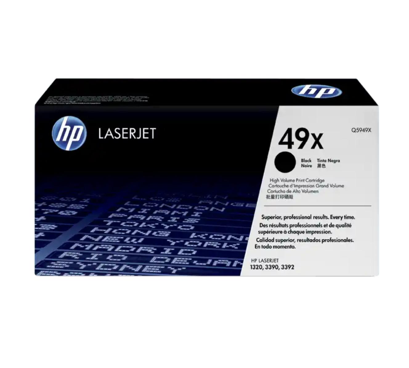 HP 49X 黑色原廠 LaserJet 碳粉 Q5949X