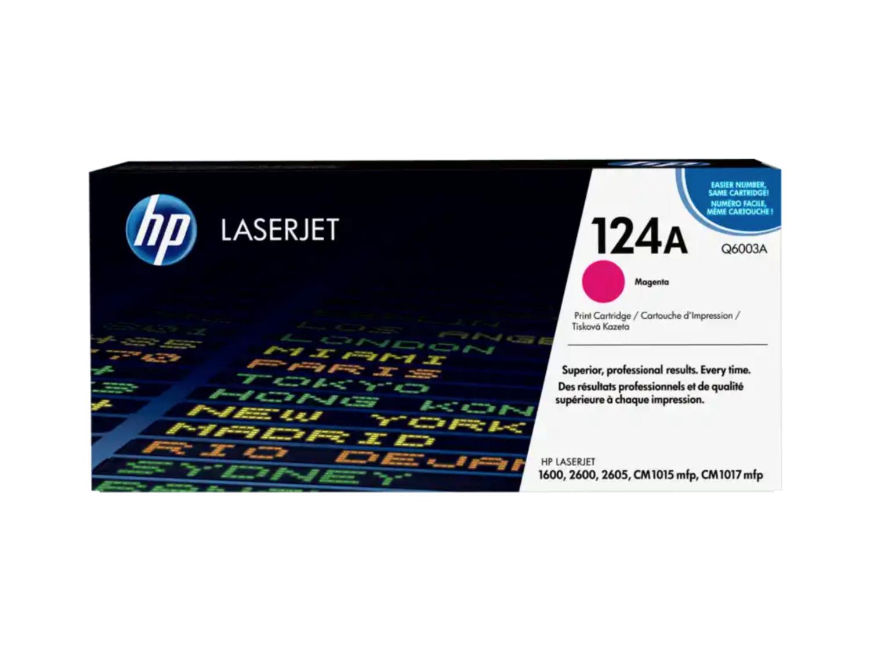HP 124A 洋紅原廠 LaserJet 碳粉 Q6003A