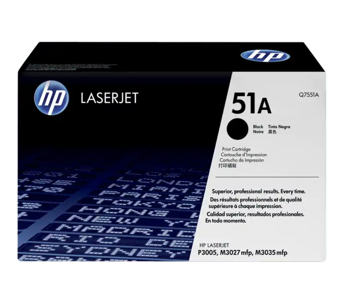 HP 51A 黑色原廠 LaserJet 碳粉 Q7551A