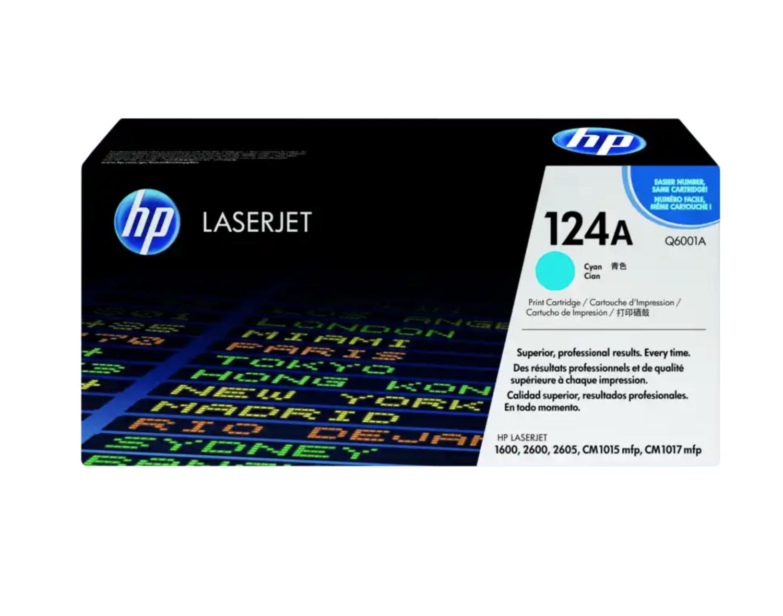 HP 124A 綻藍原廠 LaserJet 碳粉 Q6001A