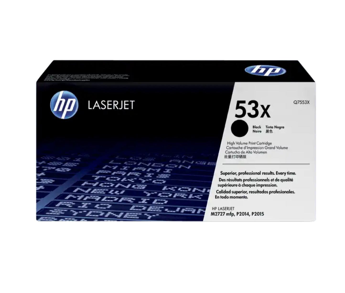 HP 53X 黑色原廠 LaserJet 碳粉 Q7553X