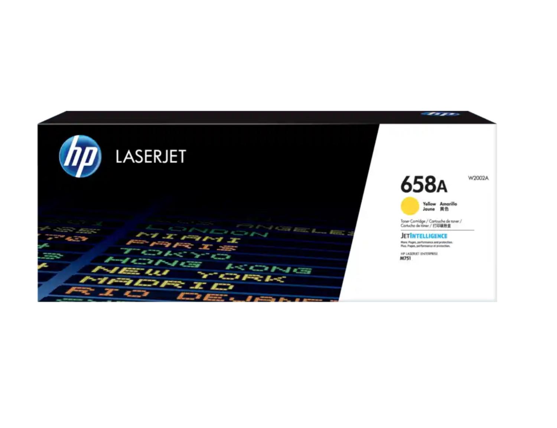 HP 658A 黃色原廠 LaserJet 碳粉 W2002A