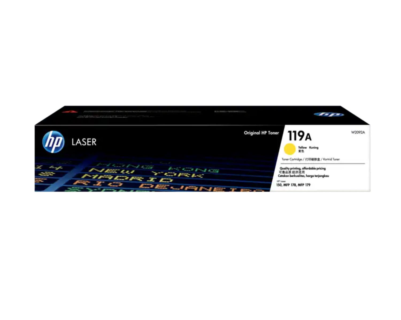 HP 119A 黃色原廠 LaserJet 碳粉 W2092A