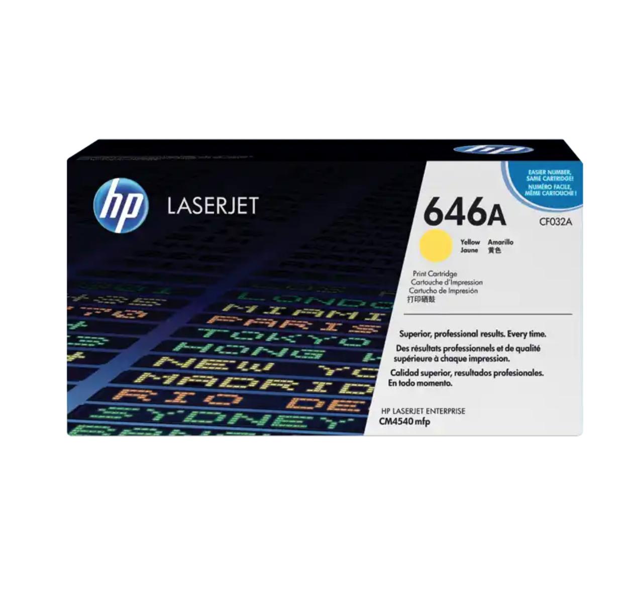 HP 646A 黃色原廠 LaserJet 碳粉 CF032A