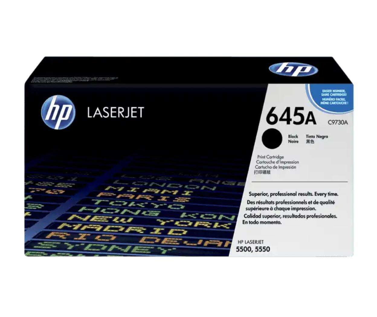 HP 645A 黑色原廠 LaserJet 碳粉 C9730A