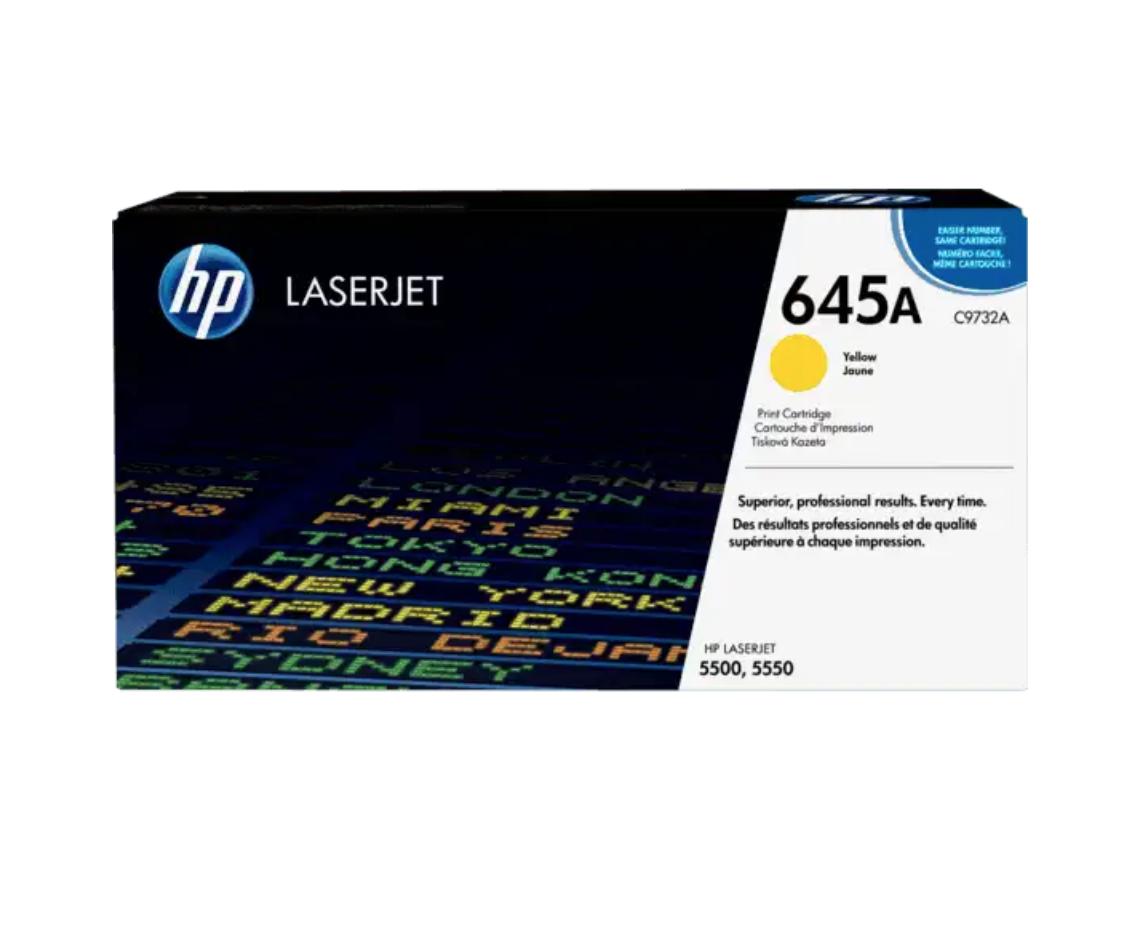 HP 645A 黃色原廠 LaserJet 碳粉 C9732A
