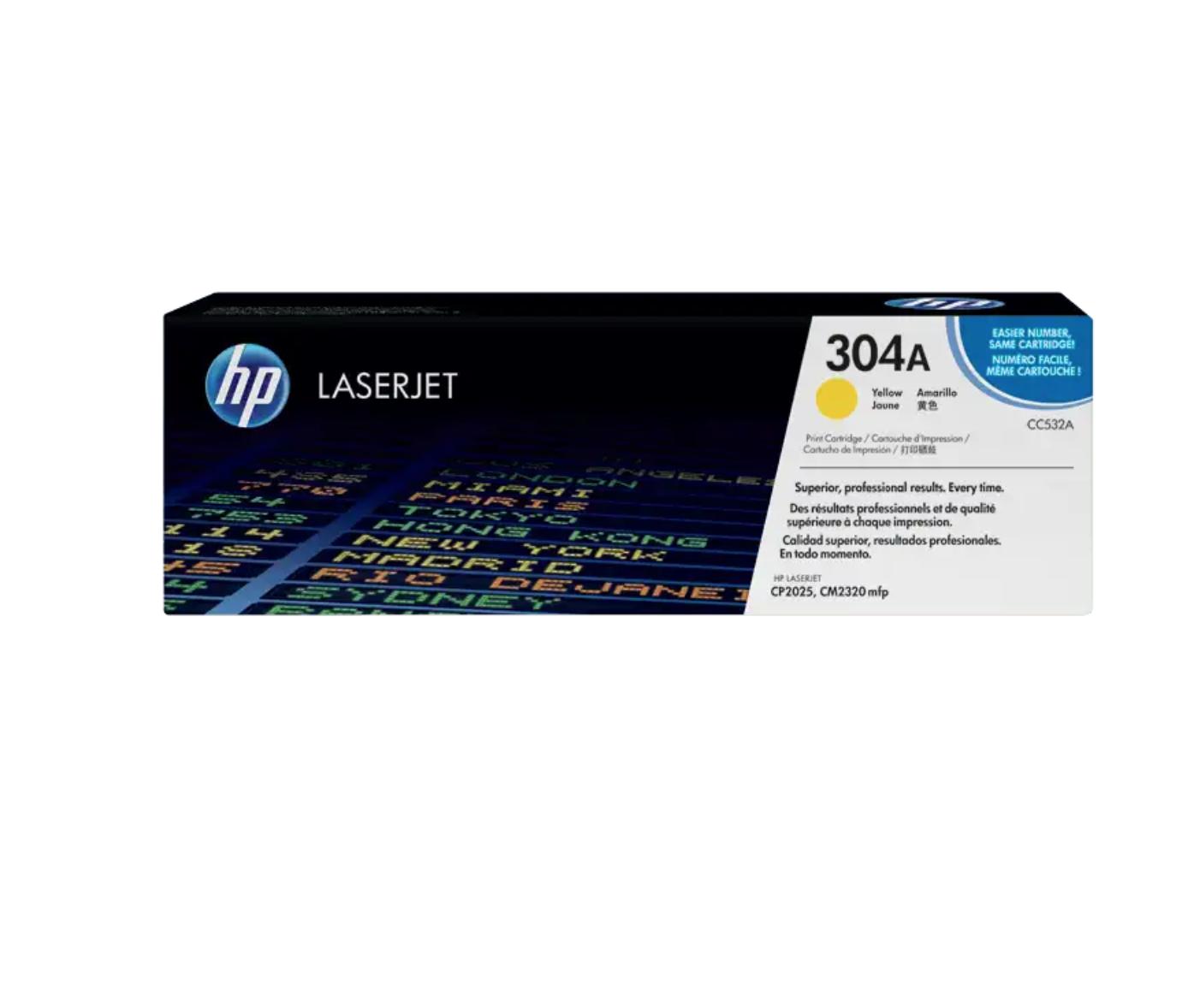 HP 304A 黃色原廠 LaserJet 碳粉 CC532A