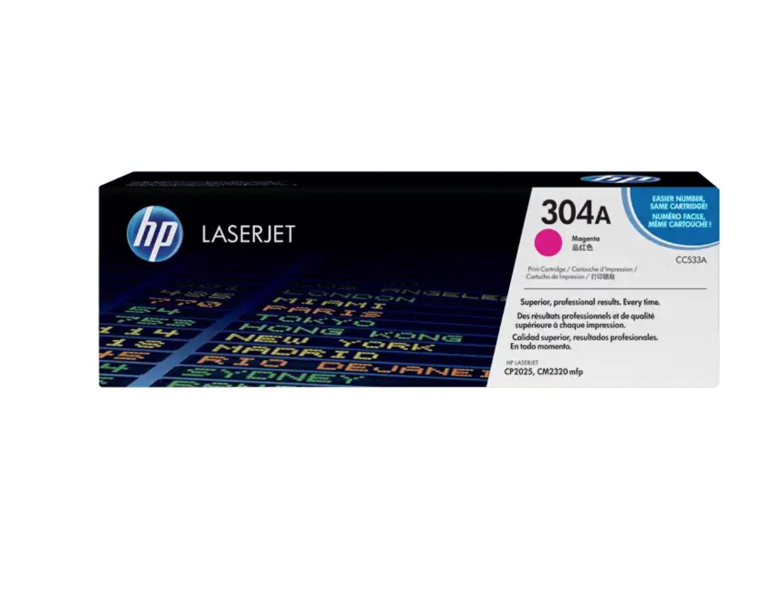 HP 304A 洋紅原廠 LaserJet 碳粉 CC533A