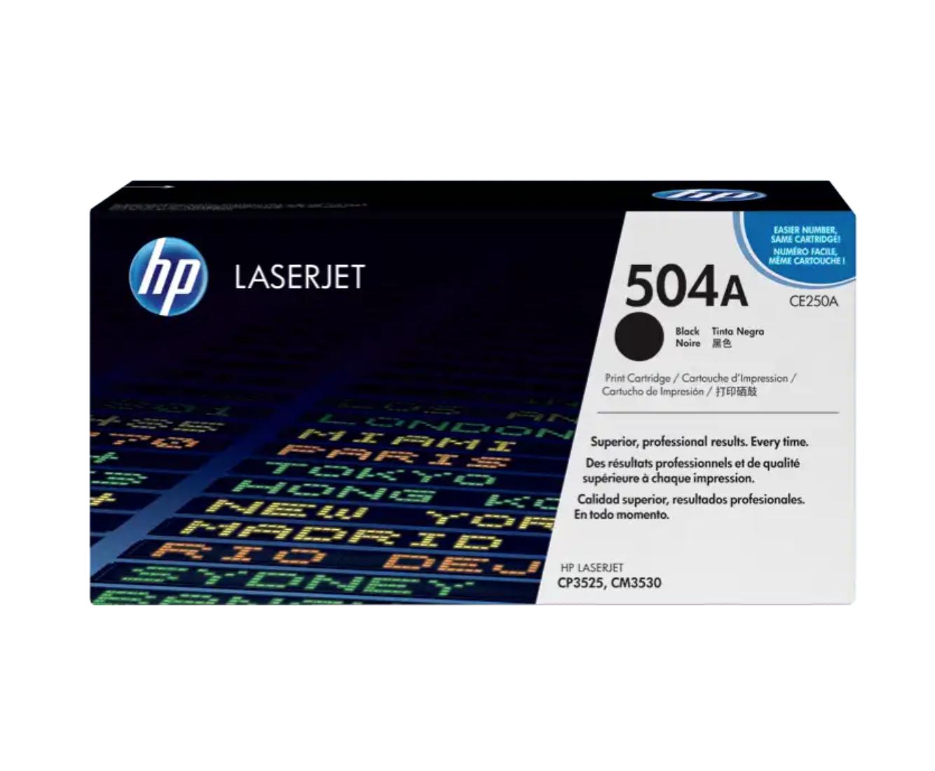 HP 504A 黑色原廠 LaserJet 碳粉 CE250A