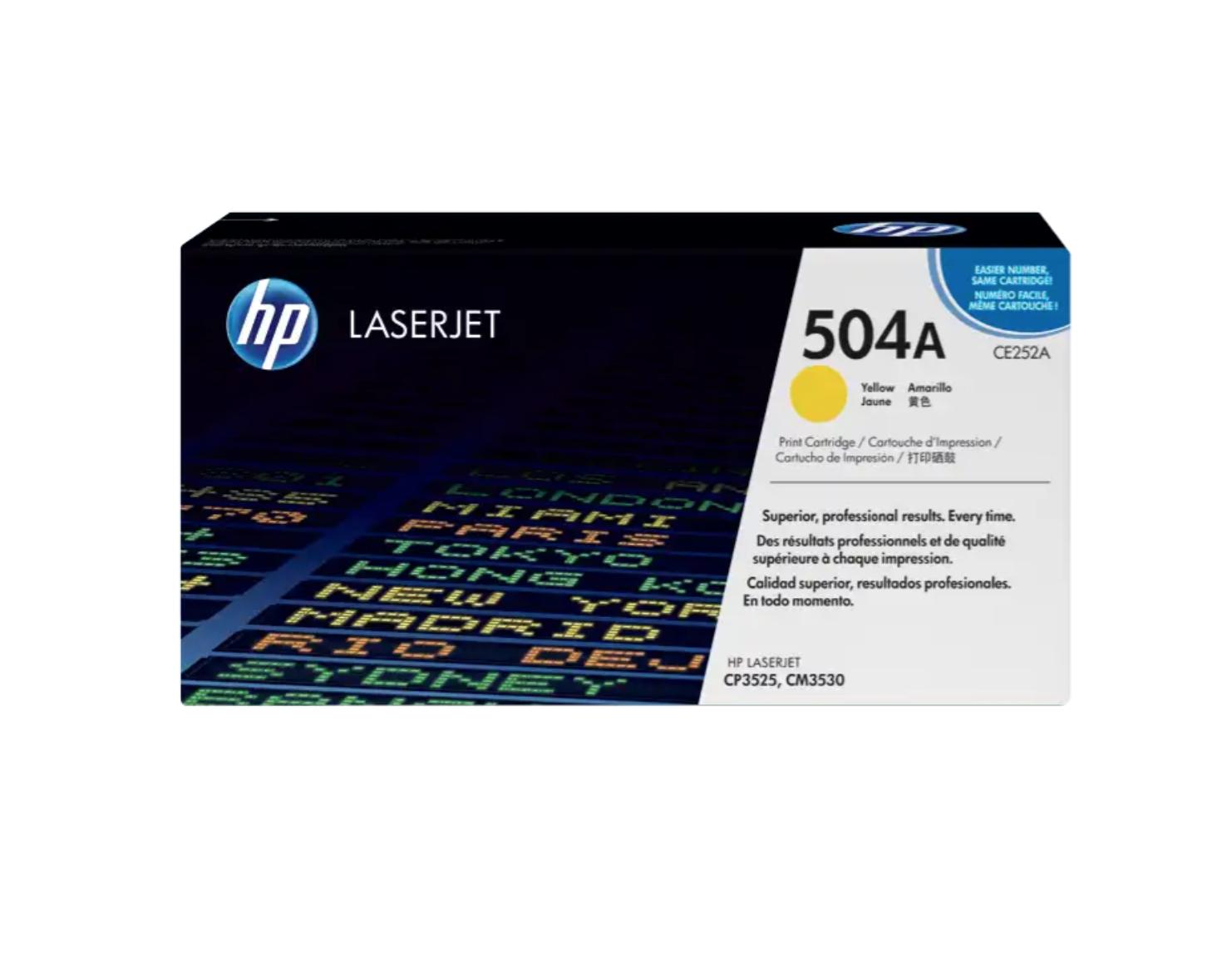 HP 504A 黃色原廠 LaserJet 碳粉 CE252A