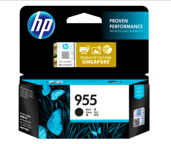 HP 955惠普黑色原廠墨盒