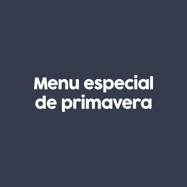 MENU DE PRIMAVERA