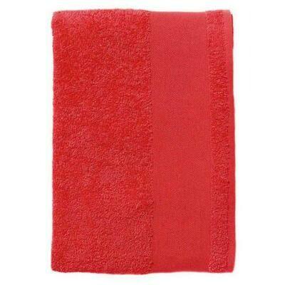 Serviette coton éponge patte d'accroche intégrée.