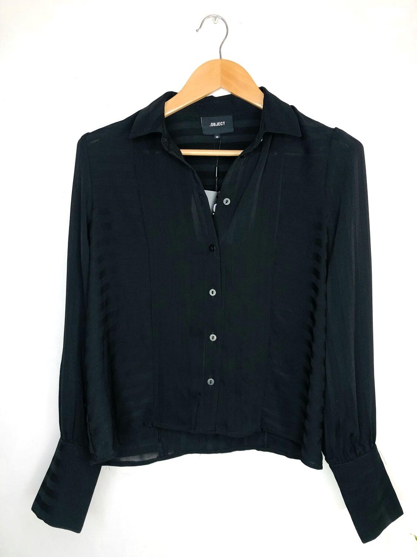 Blusa manga larga negra