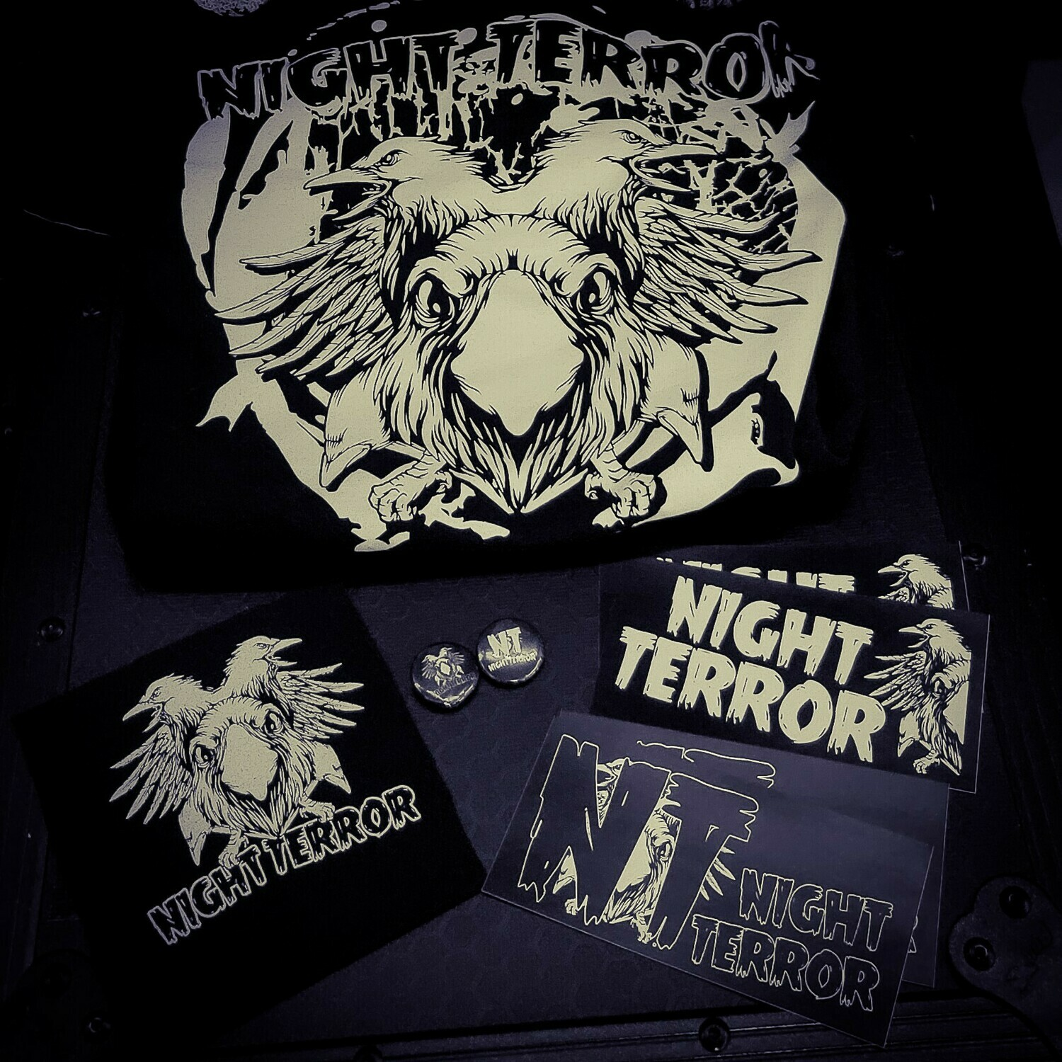 Terror Pack - Shirt, stickers, buttons, patch
