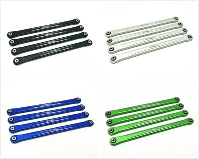 Treal Aluminum 7075 Lower Link Bars (4) Set for Losi LMT